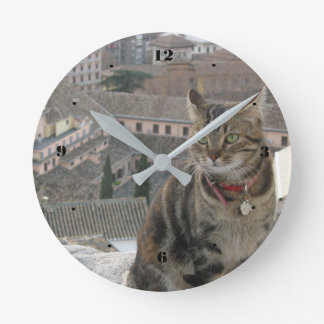 Cat Round (Medium) Wall Clock