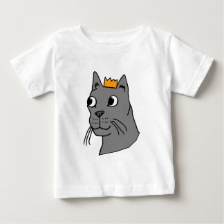 Cat Royalty Hand-drawn Cartoon Baby T-Shirt