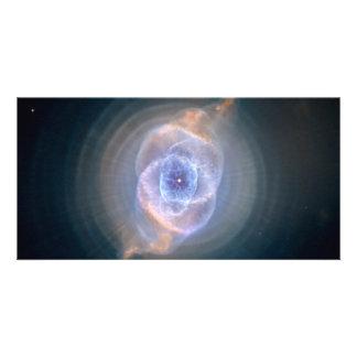 Cat s Eye Nebula Hubble Space Customized Photo Card