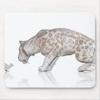 Cat Sabretooth Reflection Staring At Each Other Mouse Pad
