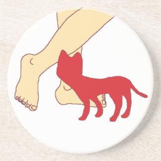Cat Sandstone Coaster