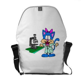 Cat Scientist Courier Bag