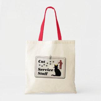 Cat Service Staff Budget Tote Bag