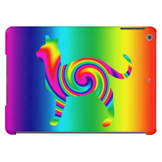 Cat Shaped Rainbow Twist iPad Air Cover