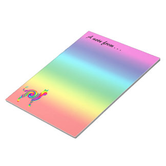 Cat Shaped Rainbow Twist Notepad