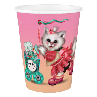 CAT SHOPPING KART PAPER CUP