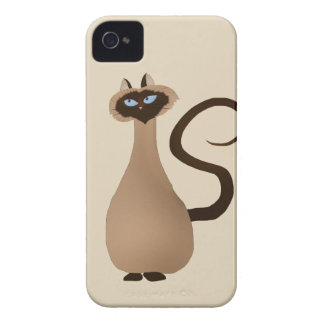 Cat Siamese Hand Drawing iPhone 4 Cover