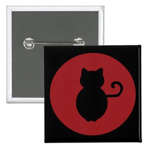 Cat Signal Silhouette Pin