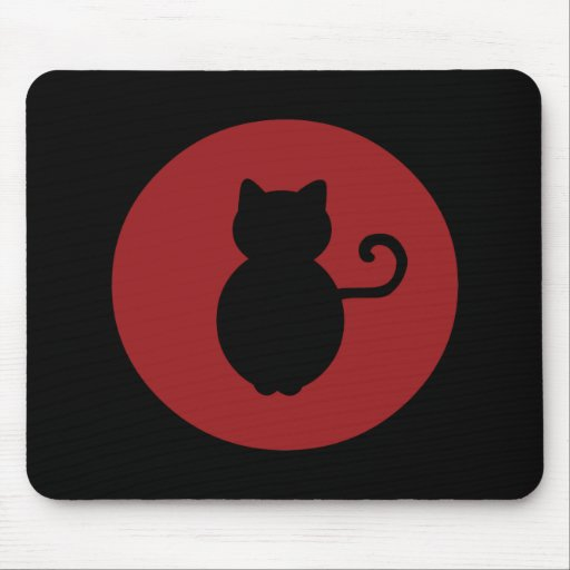 Cat Signal Silhouette Mouse Mat