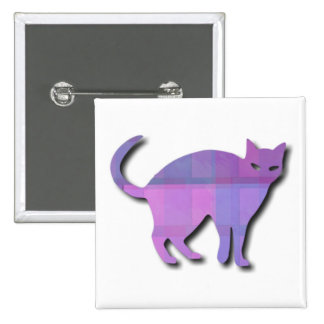 Cat Silhouette Pinback Buttons
