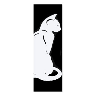 Cat Silhouette Bookmark Business Card