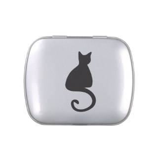 Cat Silhouette Candy Tins