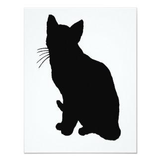 Cat Silhouette Card