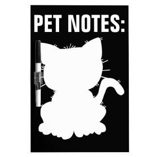 Cat Silhouette Dry Erase Board
