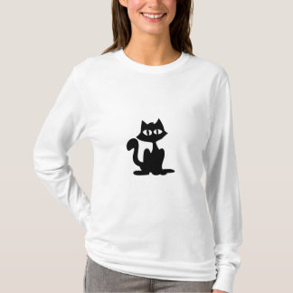 Cat Silhouette (front) T-Shirt