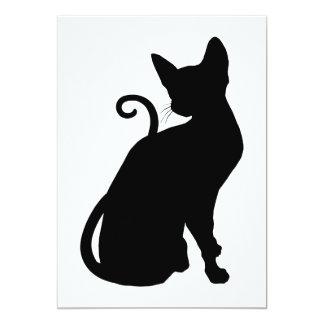 Cat Silhouette 5x7 Paper Invitation Card
