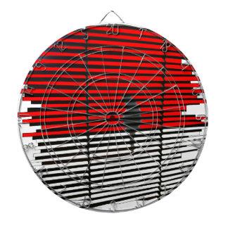 Cat Silhouette - Red Dartboard