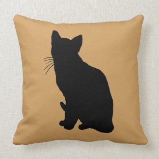 Cat Silhouette Throw Pillow