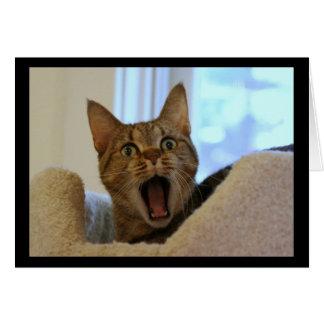 Cat Singing Happy Birthday Card