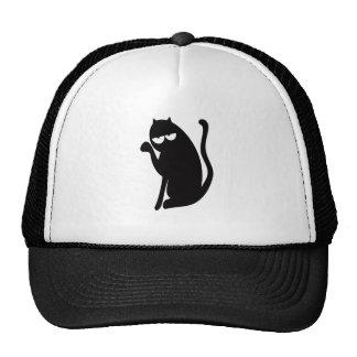 Cat Sit Pointing Black Hi Eyes Trucker Hat