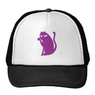 Cat Sit Pointing Purple Dissaproval Eyes Mesh Hats