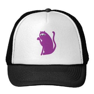 Cat Sit Pointing Purple Sad Eyes Trucker Hat