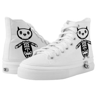 Cat Skeleton boots Printed Shoes