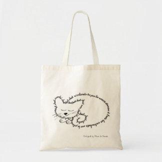 Cat sleeping, charming cat tote bag