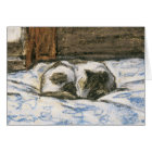 Cat Sleeping on a Bed by Claude Monet Card