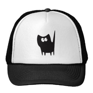 Cat Small Standing Black Look Up There Eyes Cap