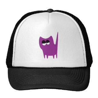 Cat Small Standing Purple Hi Eyes Hat