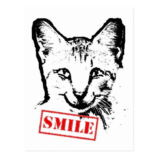 Cat Smiling Postcard