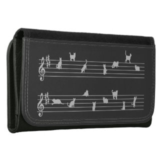 Cat Song Leather Wallet