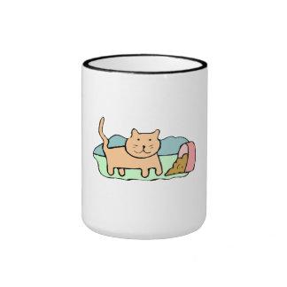 Cat Spilled Food Coffee Mug