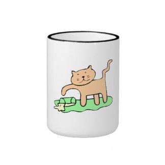 Cat Spilling Milk Coffee Mugs