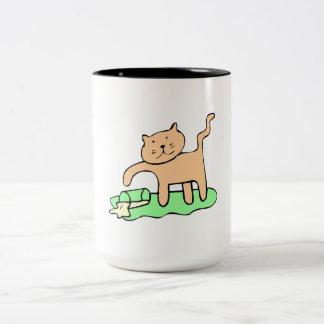 Cat Spilling Milk Mugs