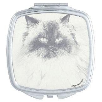 Cat Square Compact Mirror