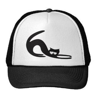 Cat Stretch Black So Tired Eyes Trucker Hat
