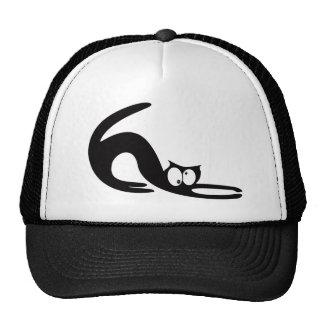 Cat Stretch Black Topsy Turvey Eyes Trucker Hat