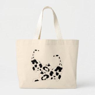 Cat Stretch Jumbo Tote Bag - Black Leopard Print