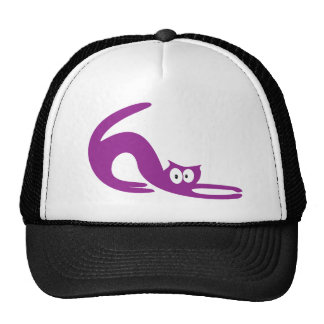 Cat Stretch Purple Hello Eyes Hat