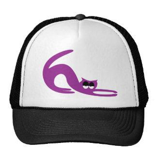 Cat Stretch Purple Hi Eyes Mesh Hat