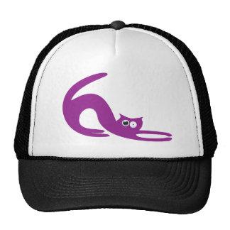 Cat Stretch Purple Stunned Eyes Hat