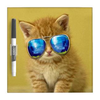 Cat sunglasses - cat love - pet - cute cats dry erase board