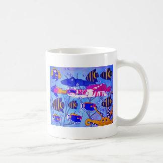 Cat Swimming with Fish Mug