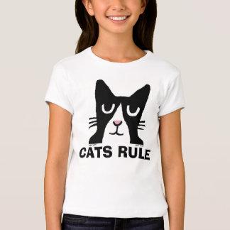 Cat t-shirts for Kids, Panda Kitty CATS RULE