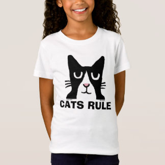 Cat t-shirts for Kids, Panda Kitty CATS RULE