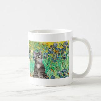 Cat (Tabby 2) - Irises Basic White Mug