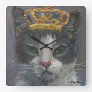 Cat Tail Gallery Wall Clock - It's Good To Be King