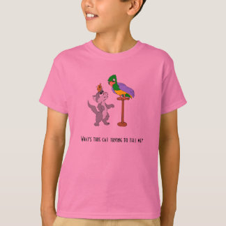 Cat Talking To Parrot T-Shirt